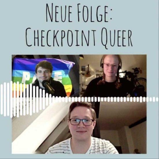 Der Checkpoint zu Gast in einem Podcast